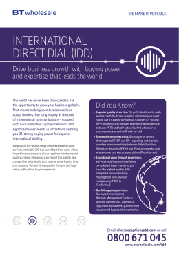 international direct dial (idd)