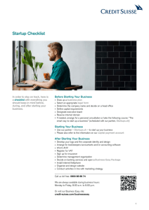 Startup Checklist - Business Easy