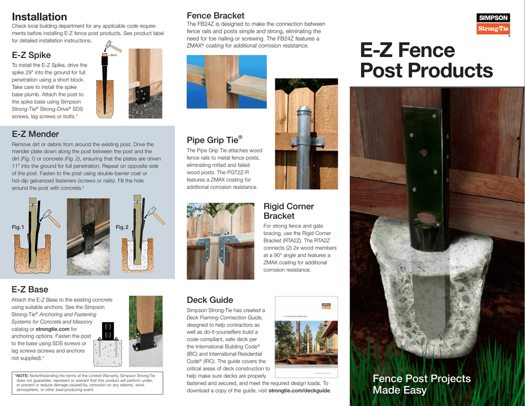 DIY: E-Z Fence Post Products (DIY-C