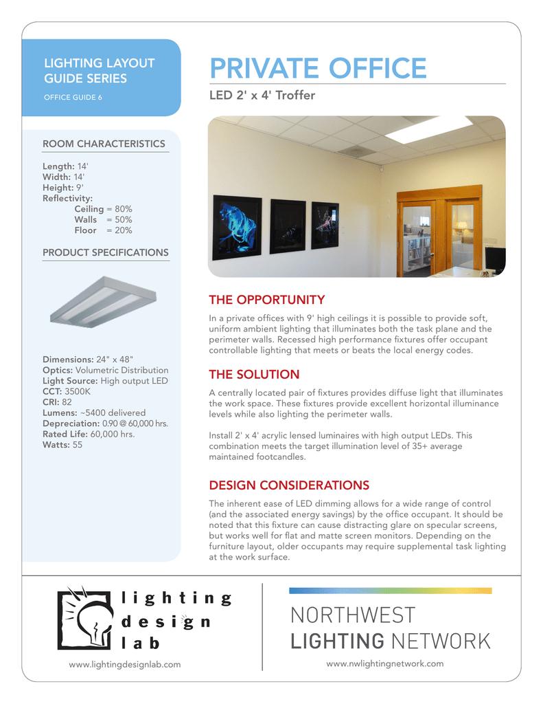 Private Office Lighting Design Lab