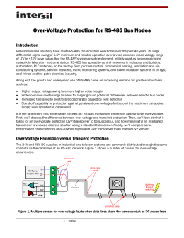 Over-Voltage Protection for RS-485 Bus Nodes