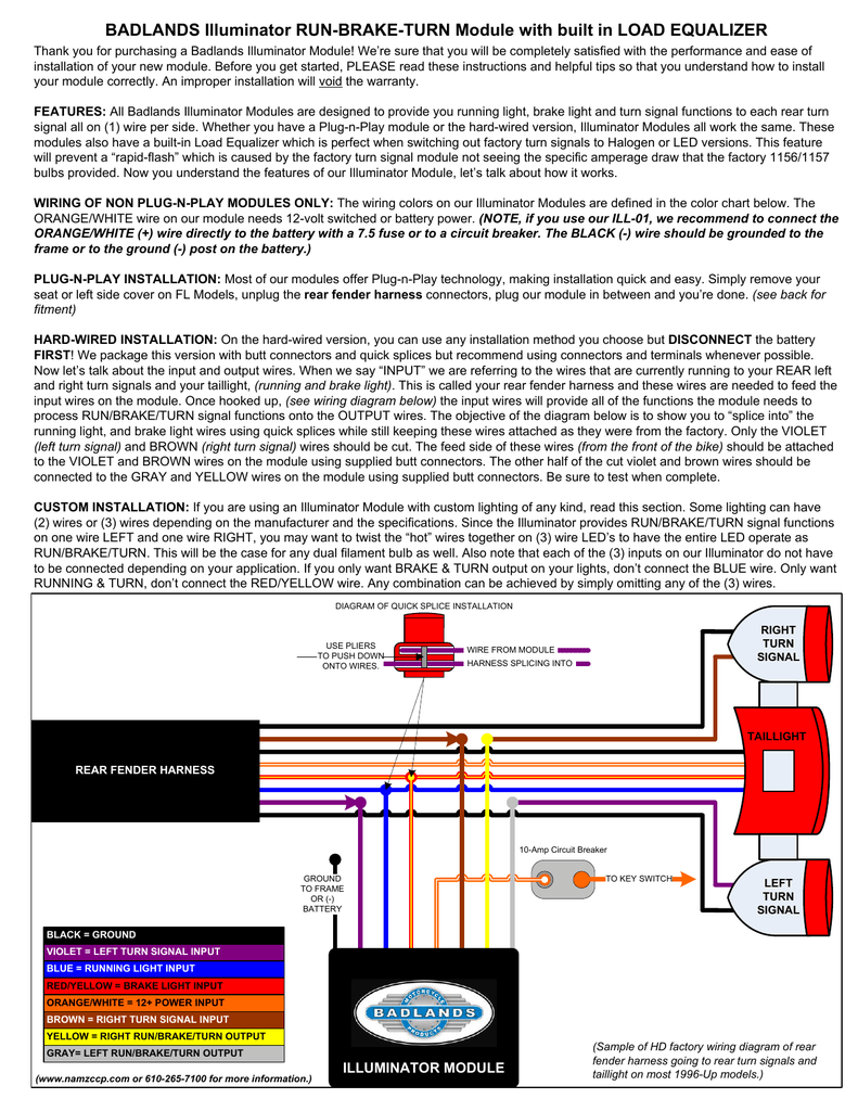Ill 01 Namz Custom Cycle 1996 Flhr Wiring Diagram