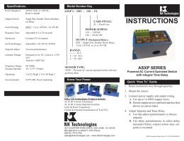 ASXP Series AC Current Sensor