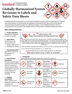 Globally Harmonized System Revisions to Labels and Safety Data