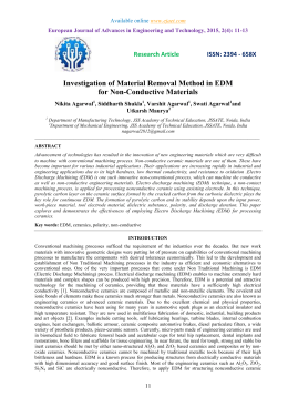 Investigation of Material Removal Method in EDM for Non