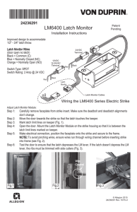 LM6400 Latch Monitor Installation Instructions