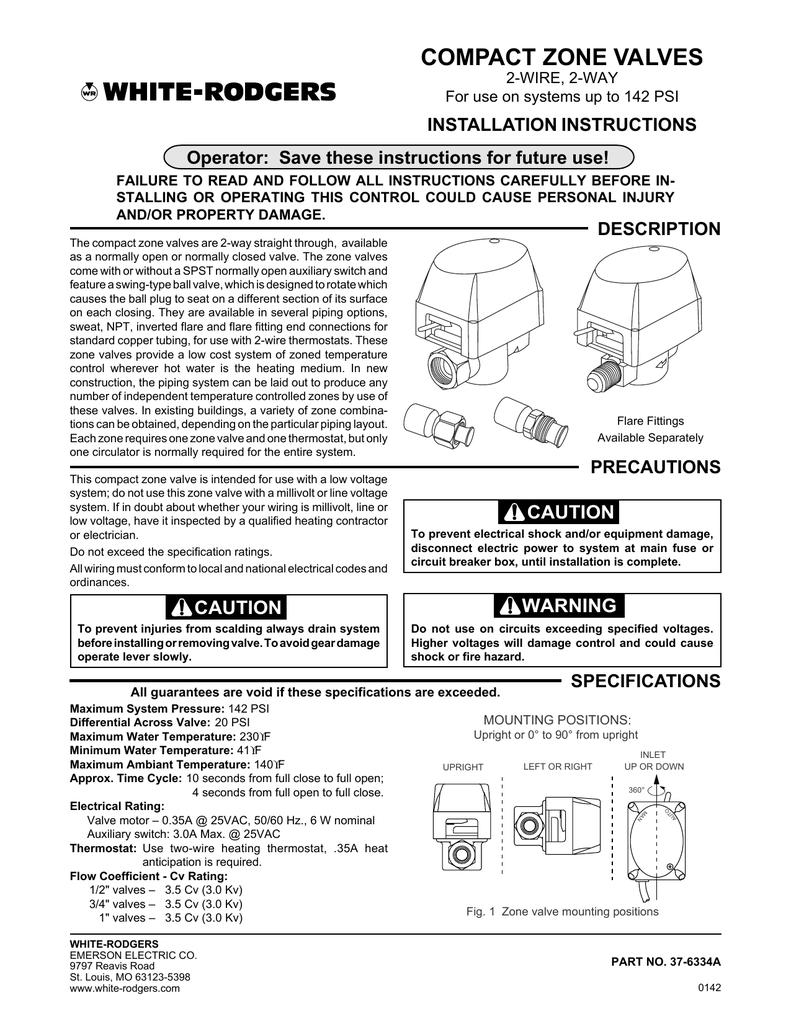 Compact Zone Valves Emerson Climate Technologies Circuit Diagram Valve