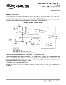 Applications of the Zarlink SLIC Devices SLIC DA/DB Internal Circuit