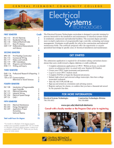 a printable description of the Electrical Systems Technology A.A.S.