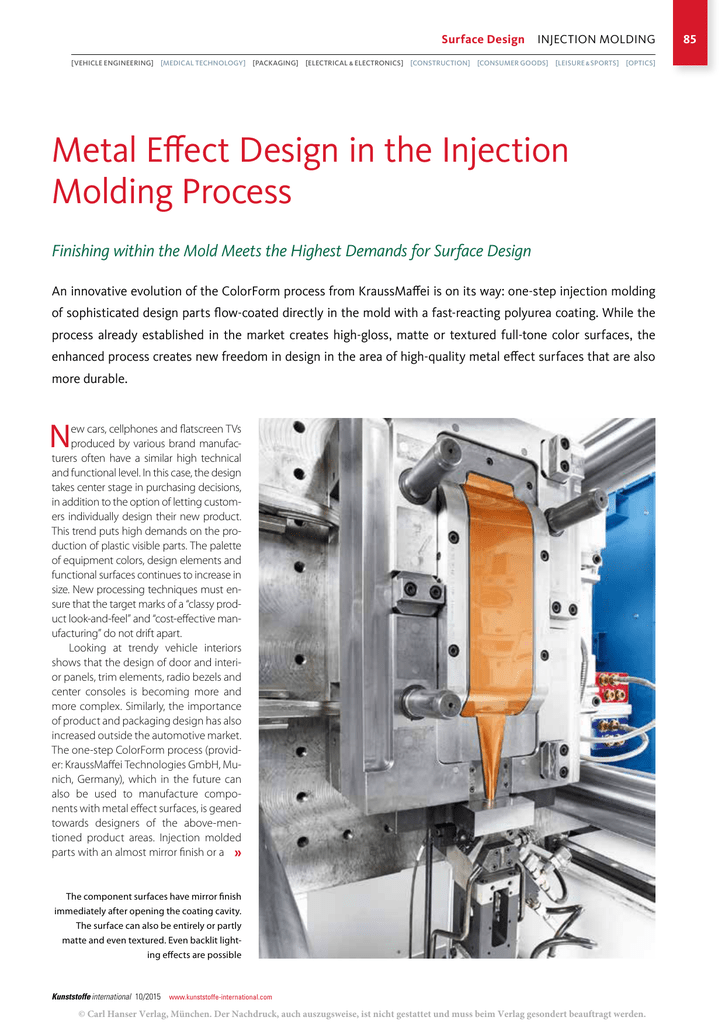 Metal Effect Design in the Injection Molding Process