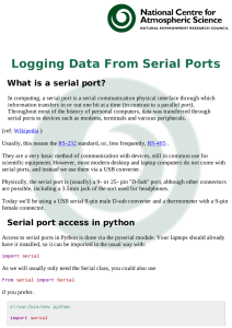 Logging Data From Serial Ports