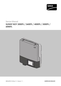 operating manual sunny boy 3000tl 3600tl 4000tl. Black Bedroom Furniture Sets. Home Design Ideas