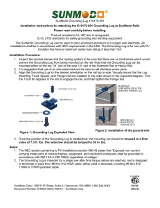 Grounding Lug Installation Instruction
