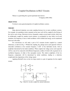 Coupled Oscillations in RLC Circuits