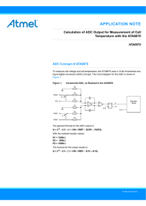 Calculation of ADC Output for Measurement of Cell