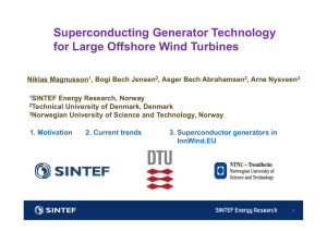 Superconducting Generator Technology for Large Offshore