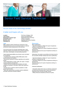 Senior Field Service Technician