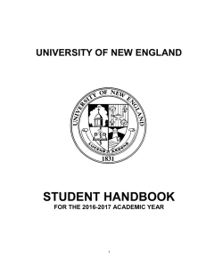 Student Handbook - University of New England