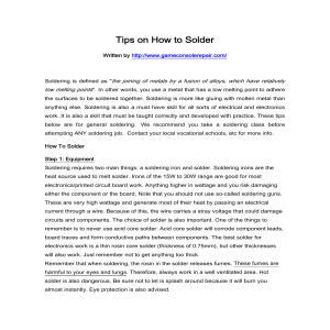 Tips on How to Solder