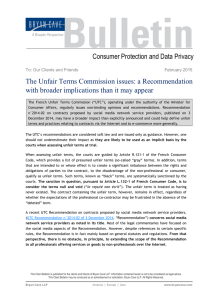 The Unfair Terms Commission issues: a