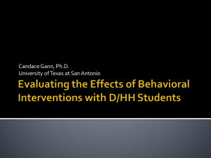 Evaluating the Effects of Function-Based Interventions with D/HH