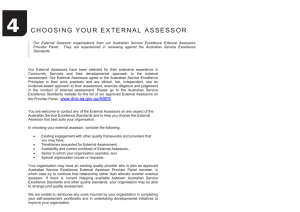 choosing your external assessor