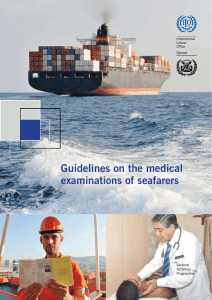 Guidelines on the medical examinations of seafarers