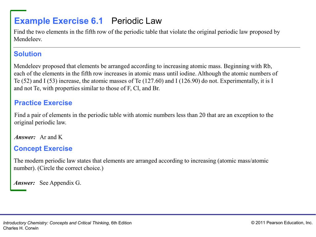 Example exercise 61 periodic law gamestrikefo Gallery