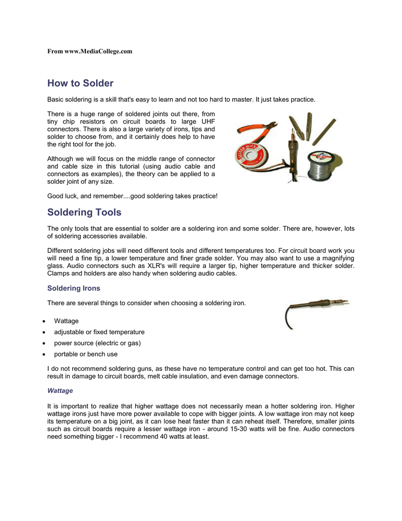 How To Solder Soldering Tools Practice Circuit Board
