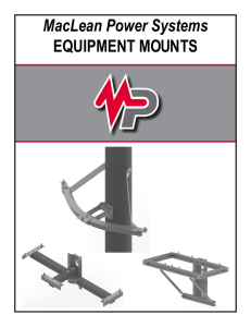 MacLean Power Systems EQUIPMENT MOUNTS