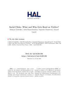 Social Clicks: What and Who Gets Read on Twitter? - HAL