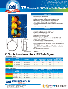 ITE Compliant LED Vehicle Traffic Signals