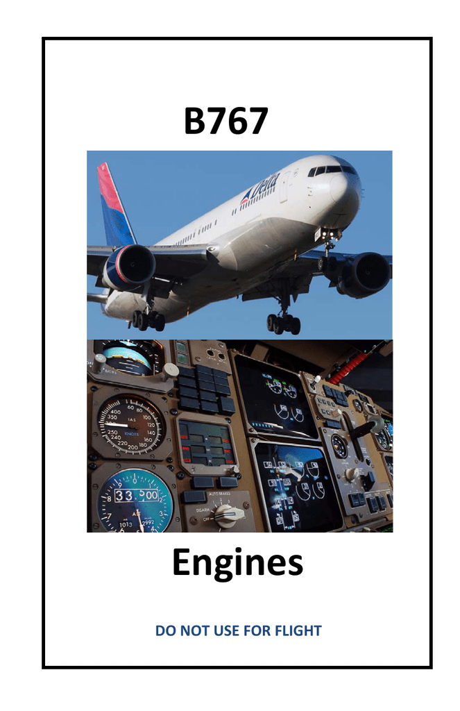 B767 Engines - SmartCockpit