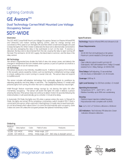 GE Controls | GE Aware™ Dual Technology Corner/Wall Mounted