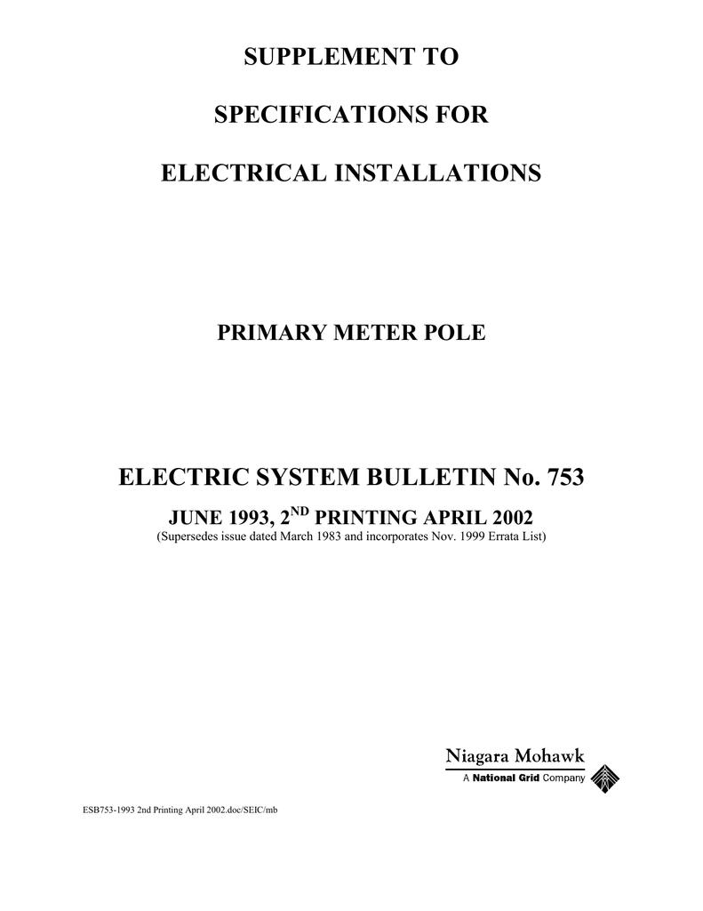 Esb 753 National Grid Electrical