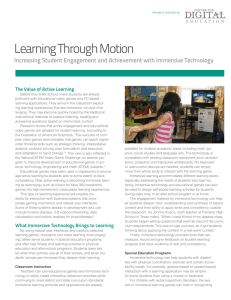 Learning Through Motion - Center for Digital Education
