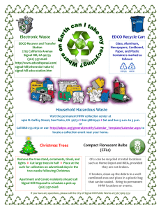 Electronic Waste Household Hazardous Waste Christmas Trees