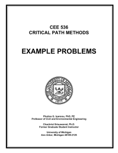 Example Problems - University of Michigan