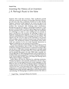Inventing the History ofon Invention: J. A. Fleming`s Route to the Valve