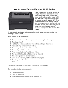 How to reset Printer Brother 2200 Series