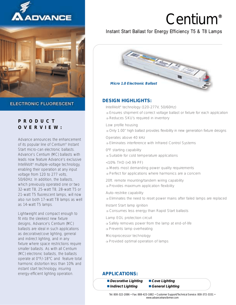 Centium Instant Start Ballast For Energy Efficiency Wiring Diagram
