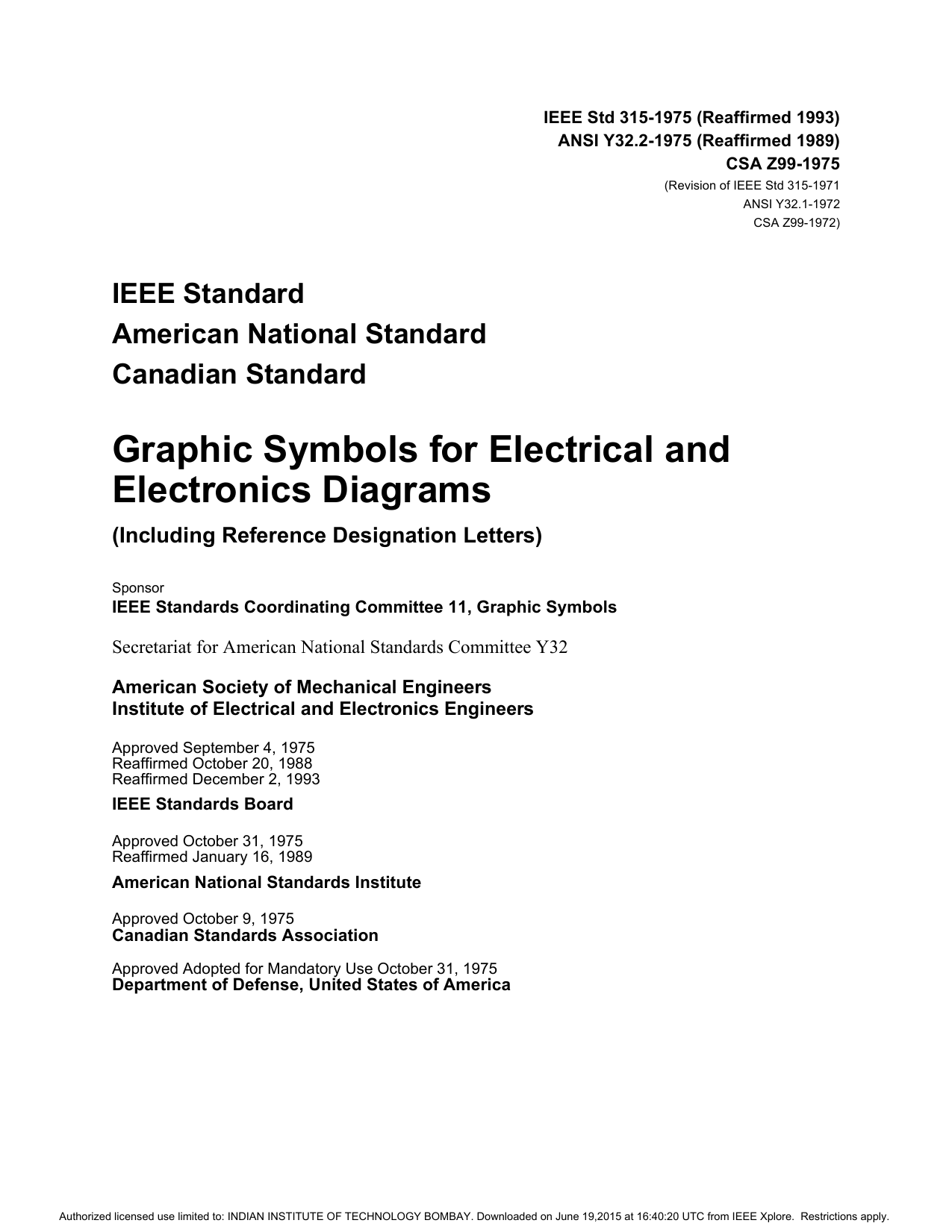 Ansi Y3211 Graphical Symbols For Process Flow Diagrams Expert Standard Diagram Ieee Std 315 1975 Department Of Electrical Engineering Indian