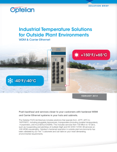 industrial temperature Solutions for outside Plant