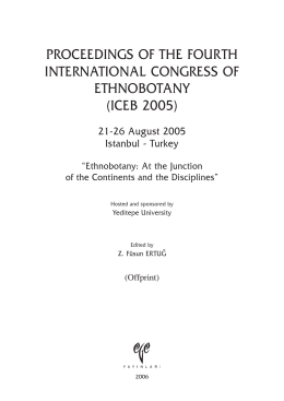 PROCEEDINGS OF THE FOURTH INTERNATIONAL CONGRESS