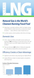 Natural Gas is the World`s Cleanest Burning Fossil Fuel