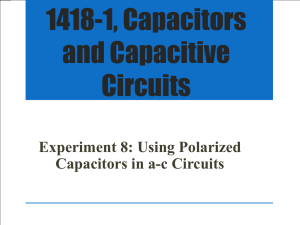 1418-1, Capacitors and Capacitive Circuits