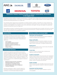 Automotive Industry Guiding Principles to Enhance