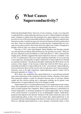 What Causes Superconductivity?