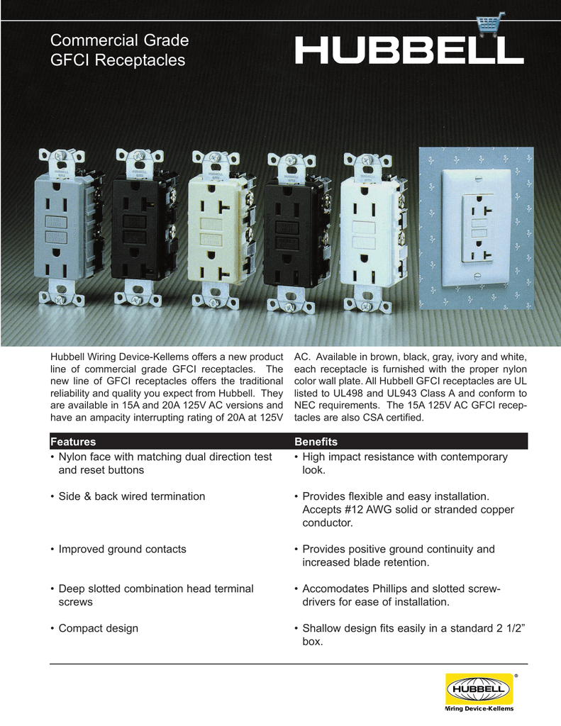 Commercial Grade Gfci Receptacles Hubbell Usb Wiring Diagram 018106055 1 5dbf339eefdc27e44aab626006b7ecf2
