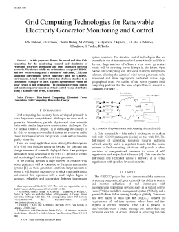 Grid Computing Technologies for Renewable Electricity Generator